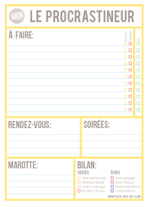 Bloc-notes de procrastinateur