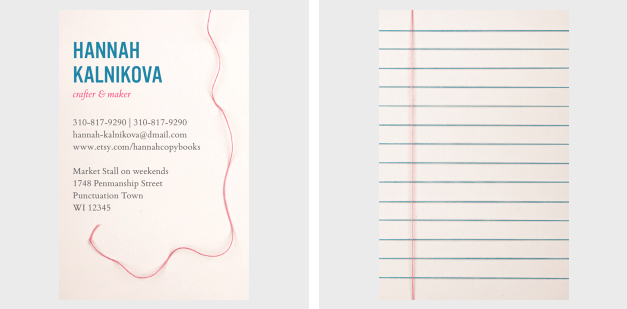 Carte de viste - design Moo