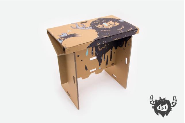 Le bureau en carton portatif et recyclable redolf u2013 les trombones de