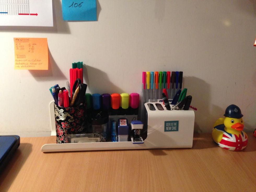 Rangement crayons, stylos