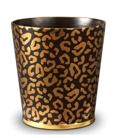 Corbeille à papier léopard-or Amara