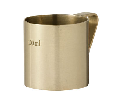 Tasse Brass / Verre doseur - 100 ml - Ferm Living, Madeindesign
