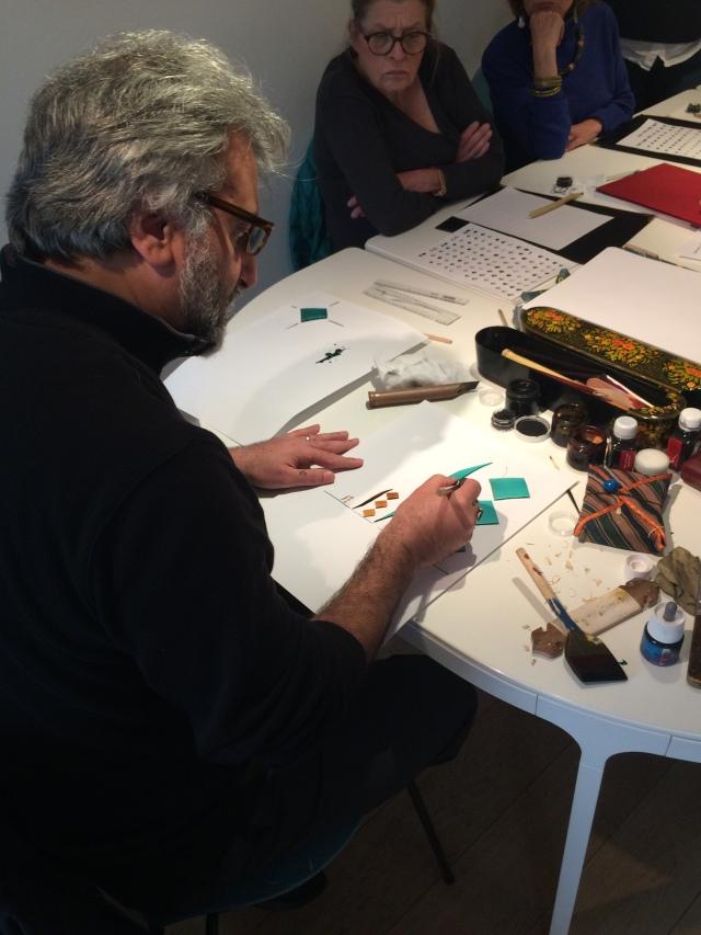 Bahman Panahi Atelier calligraphie Persane