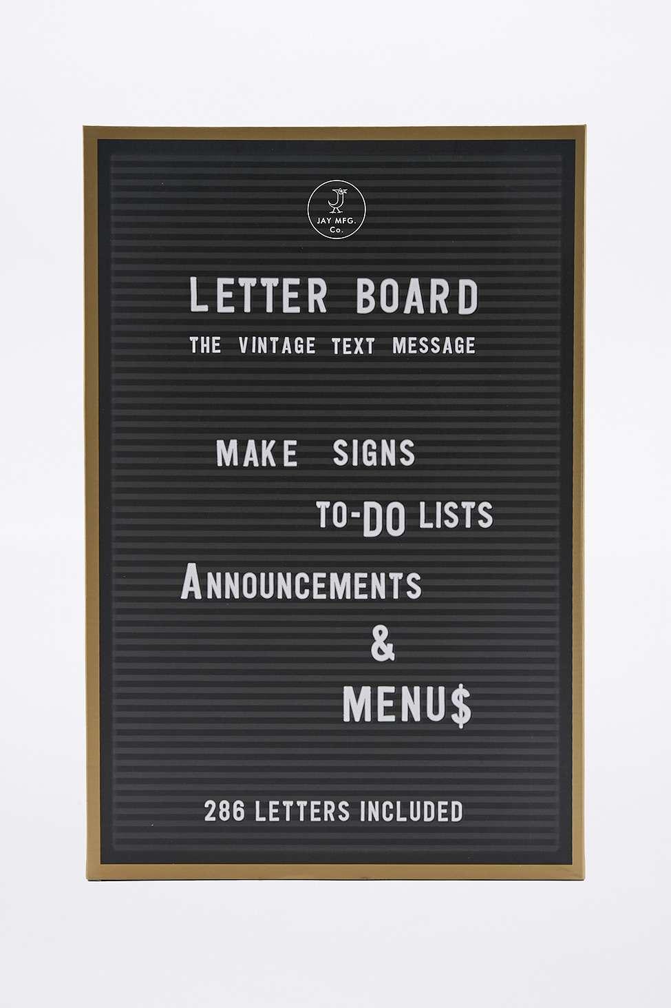 Tableau d'affichage à lettres