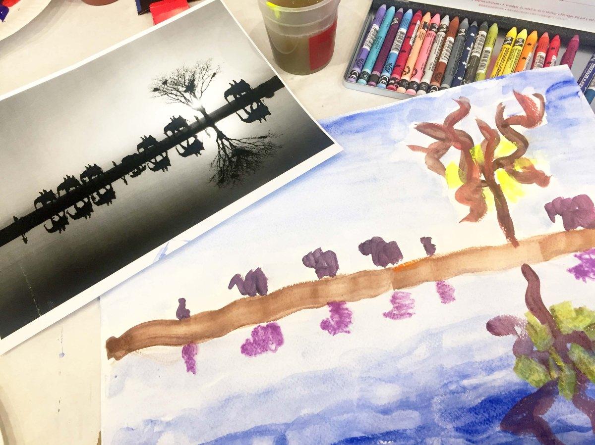 """Atelier peinture """"Slow Life"""" avec Caran d'Ache."""