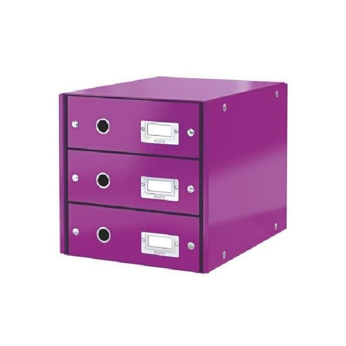 leitz-boite-rangement-click-store-3-tiroirs-violet